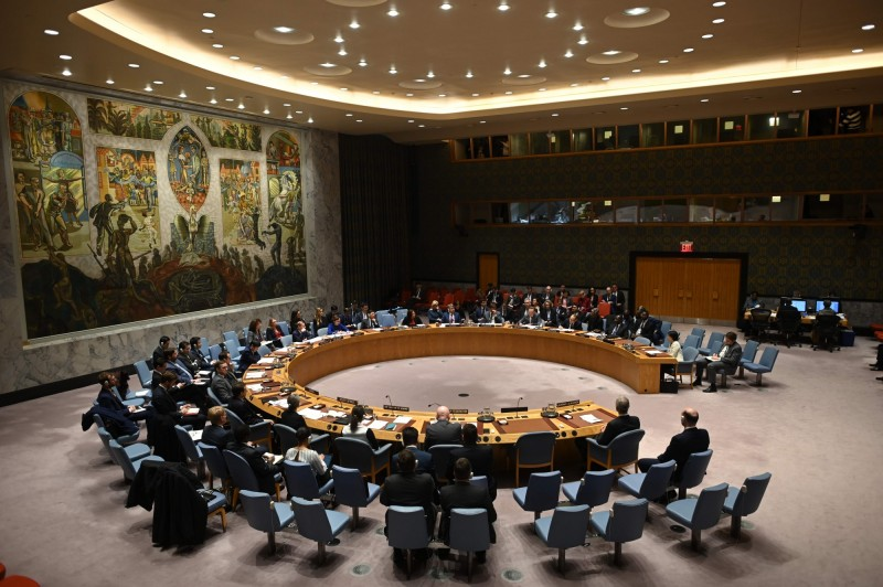 由於《聯合全面行動計畫》對伊朗實施的武器禁運將在今年10月18日到期;對此美國欲在聯合國安理會推動「對伊朗永久性武器禁運」,然而該主張遭到中國、俄羅斯以及歐盟反對。(法新社)