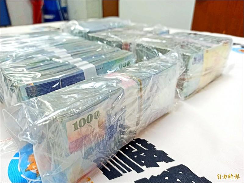 台中林姓角頭涉嫌向台北富商詐騙7500餘萬元,被逮時只剩502萬。(記者黃佳琳攝)