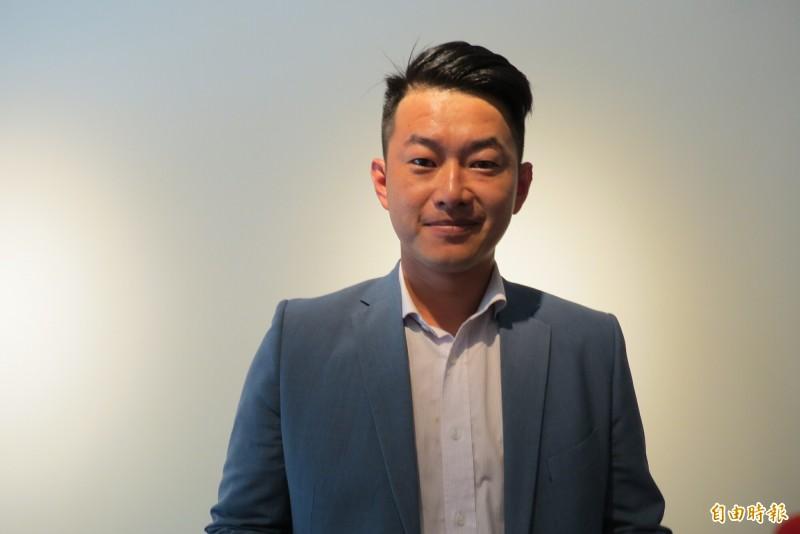 陳柏惟表示,如果國民黨願意反共,不講九二共識,他現在還在拍電影,是為了國家好才跳出來。(記者蘇金鳳攝)