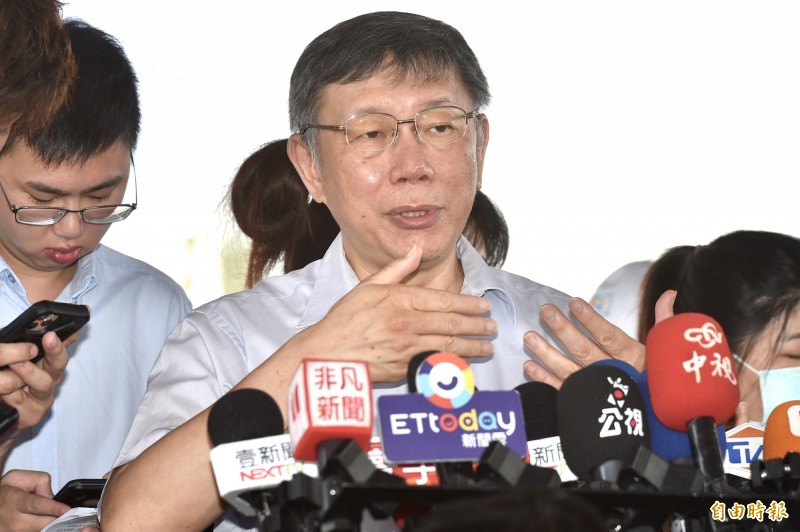 台北市長柯文哲今12日出席「北投區福國社會住宅新建工程開工典禮」。(記者塗建榮攝)
