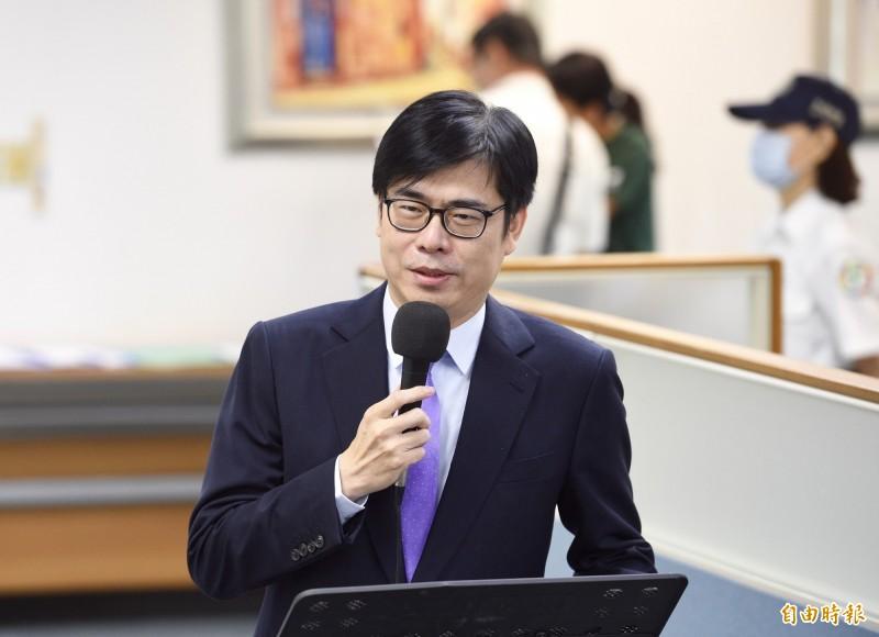 對於是否擔心韓國瑜反悔提出訴訟?陳其邁表示,他相信政治人物的誠信,也期待高雄有一個重新開始的機會。(資料照)