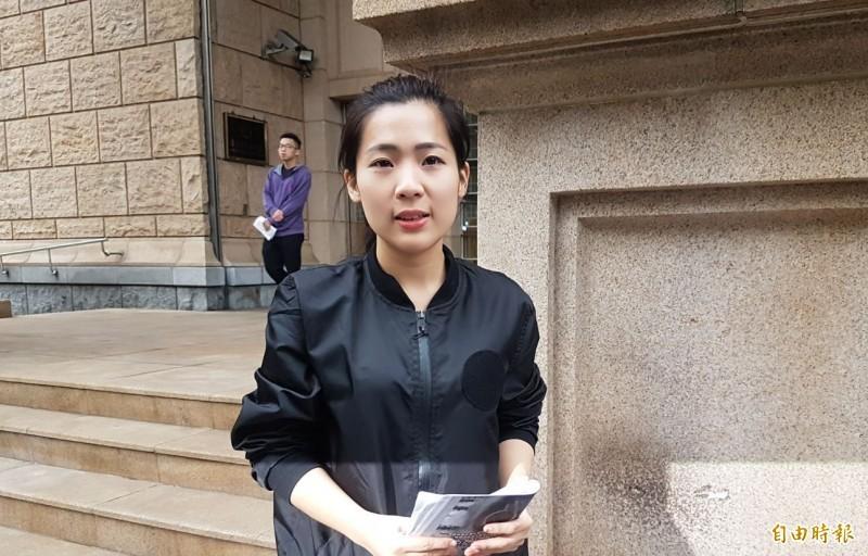 徐巧芯說,有在民眾黨的朋友告訴她,他們的目標就是去拉一些國民黨的優秀人才,因為在未來可能在各縣市、尤其是台北市提出人選。(資料照)