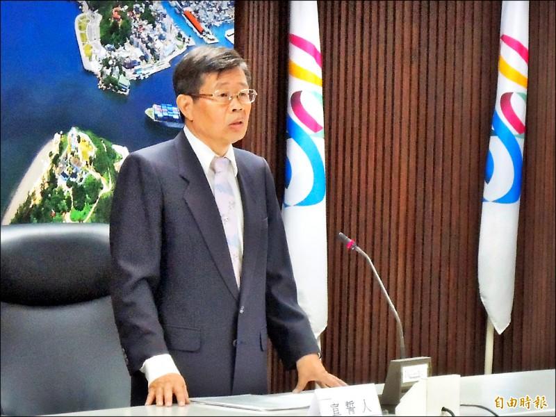 高市代理市長楊明州要市府團隊上緊發條。(記者王榮祥攝)