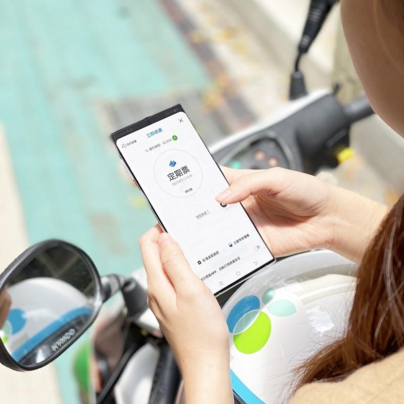 WeMo Scooter或iRent會員只要在6月15日至7月15日,在悠遊付的嗶乘車上首次購買1280定期票者,就可享7折優惠。(悠遊卡公司提供)