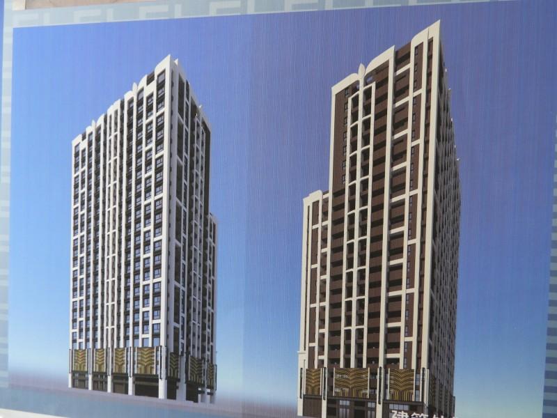 新北市板橋區介壽段都更案完工後模擬圖。(記者賴筱桐翻攝)
