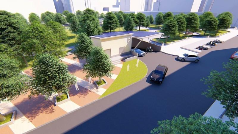 新北市政府爭取前瞻計畫補助,樹林區長壽公園地下停車場工程可提供216個小型車停車位及100個機車停車位。  (交通局提供)