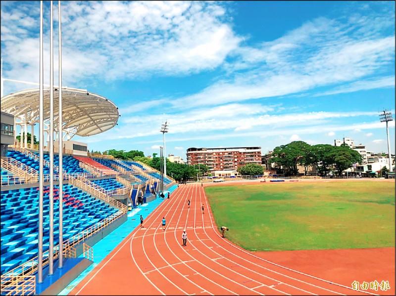 全中運開幕典禮預計7月18日在縣立田徑場舉行。(記者羅欣貞攝)
