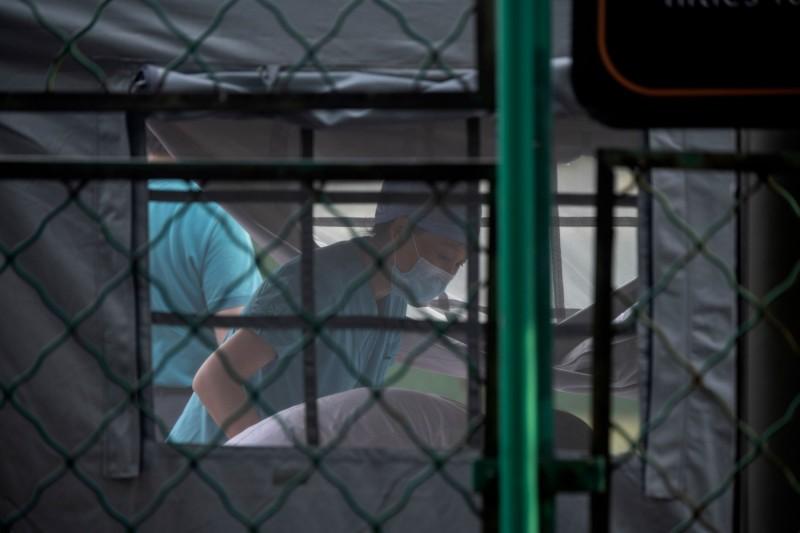 北京武漢肺炎(新型冠狀病毒病,COVID-19)疫情延燒,6天新增137例確診。示意圖。(法新社)