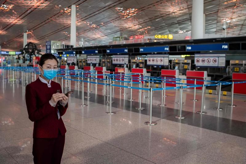 北京大規模航班取消。(法新社資料照)