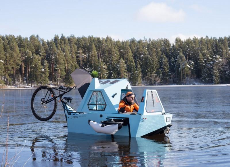 Z-TRITON也能當成小船航行。(ZELTINI授權)