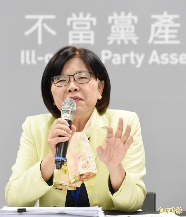 第六屆監委提名,黨產會副主委施錦芳出線,她強調,監委的工作對她而言具有挑戰性。(資料照)