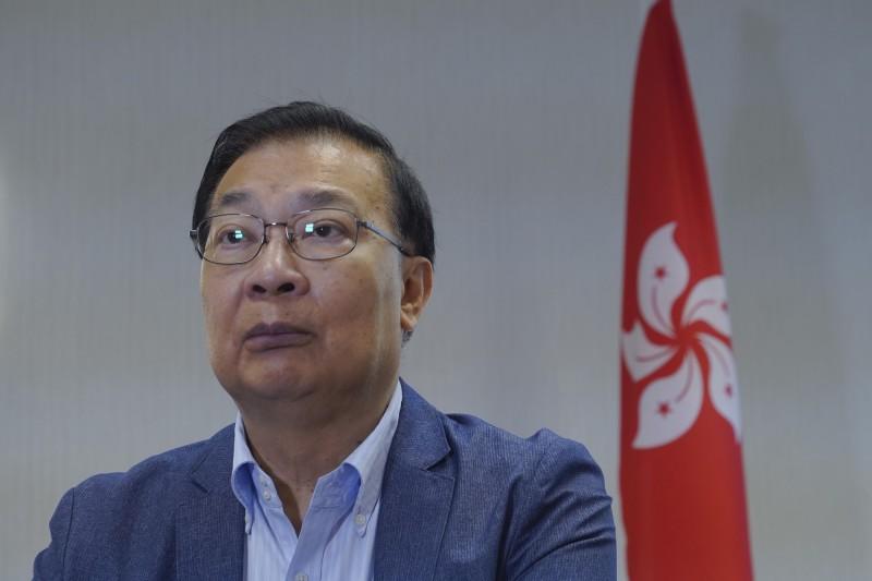 中國全國人大常委、港區人大代表譚耀宗表示,這次會議只是初審「港版國安法」草案。(美聯社)