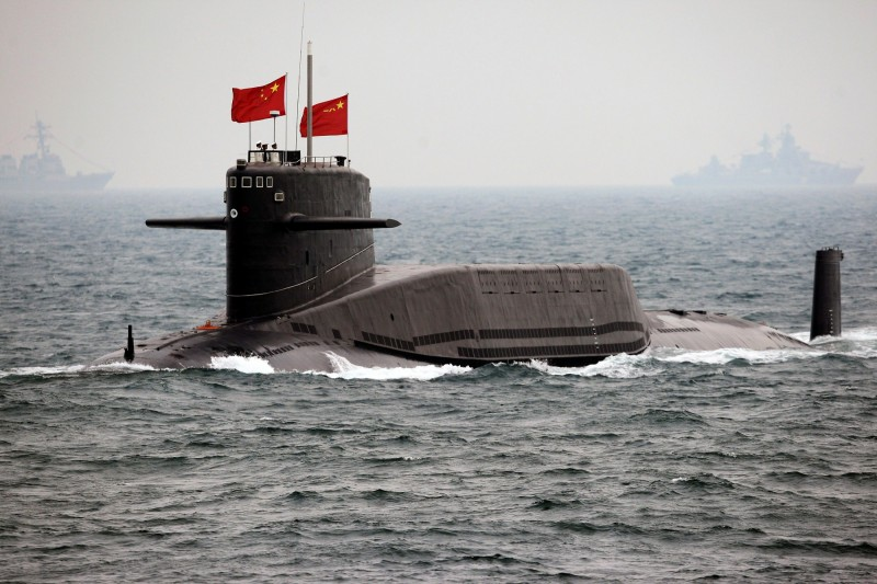 日本海上自衛隊追蹤到他國潛艦通過奄美大島周遭海域,防衛省直指該艘潛艦應屬於中國海軍。中國潛艦示意圖。(路透)