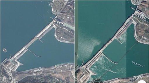 中國三峽大壩變形引發討論,不過中國官方多次指稱沒有任何問題。(圖/翻攝自Google Map)