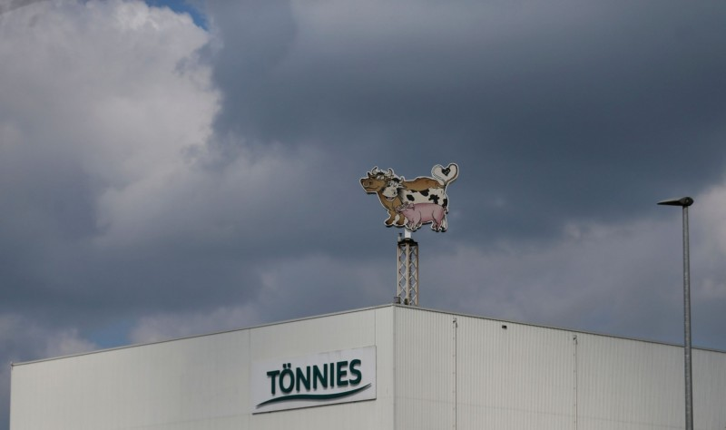 托尼斯肉品加工廠爆發群聚感染。(路透)