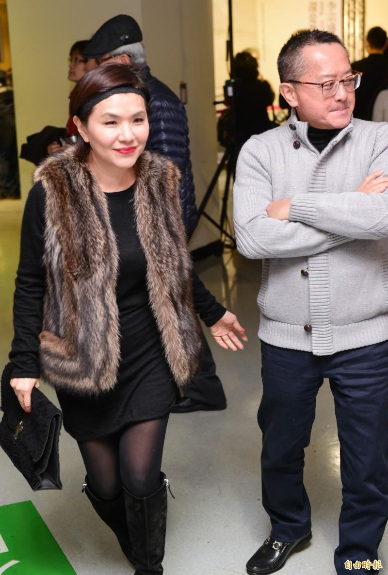 歌手張清芳今與宋學仁(右)透過律師賴芳玉宣布離婚,過去兩人曾一同出席李宗盛演唱會。(記者王文麟攝)