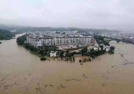 中國重慶爆嚴重洪災。(翻攝自微博)