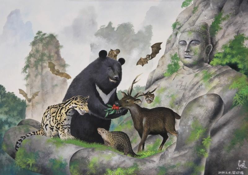 「遇見神佛9號—祈福漫畫特展─古往今來篇」作品充滿佛家的智慧。(宗博館提供)