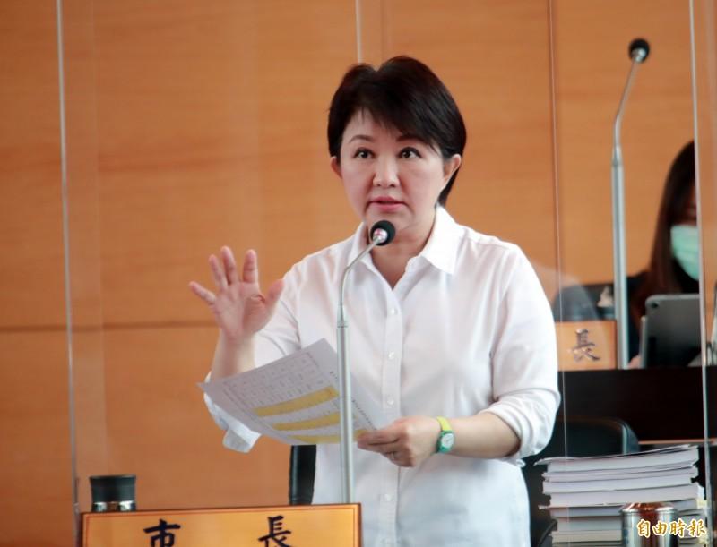 台中市長盧秀燕強調全力支持實驗教育。(記者張菁雅攝)