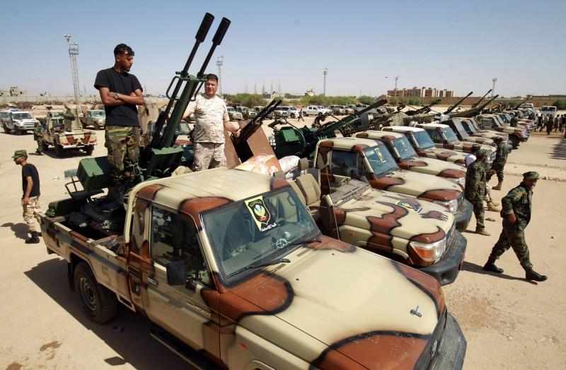 利比亞內戰不斷,聯合國人權理事會宣布將成立機構,並派遣團隊前往利比亞進行實況調查。(法新社)