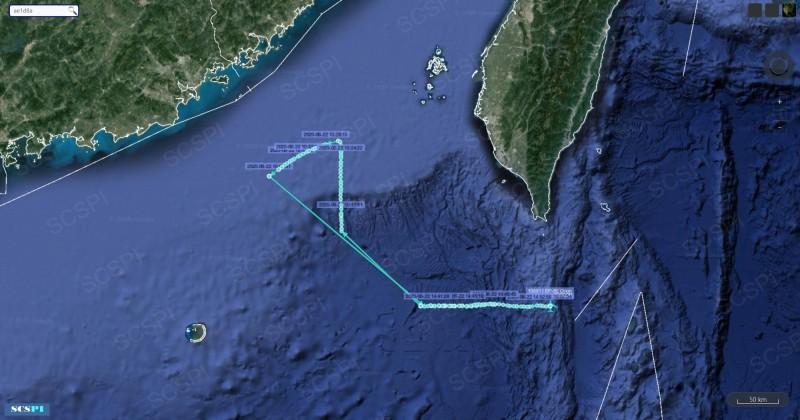 EP-3E在南海及巴士海峽巡航。(圖擷取自推特)