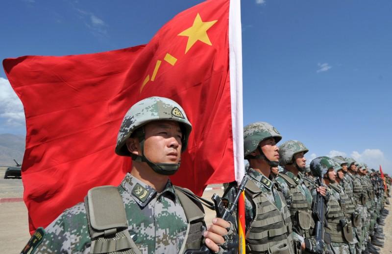中國解放軍。(法新社資料照)