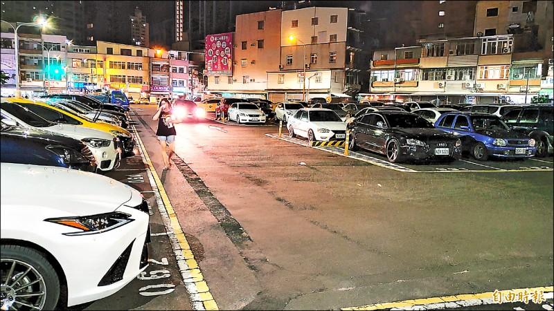 議員呼籲市府逐步改善戶外停車場鋪面,善用這些空間,讓高雄朝海綿城市邁進。 (記者張忠義攝)