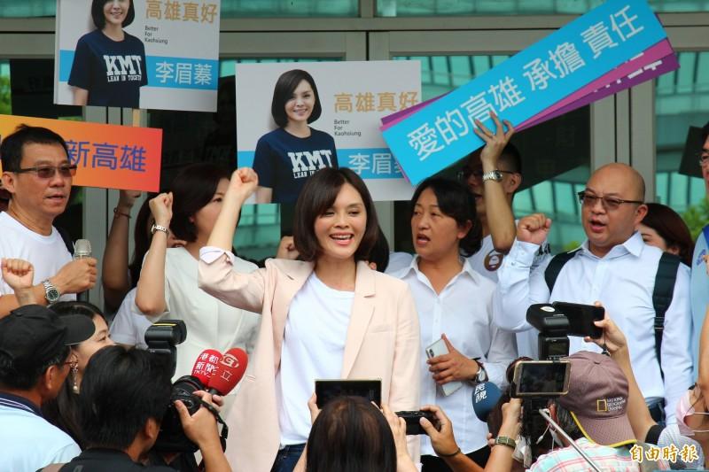 針對吳益政批評國民黨不理在野,李眉蓁表次尊重,但也強調國民黨有國民黨的考量。(記者李惠洲攝)