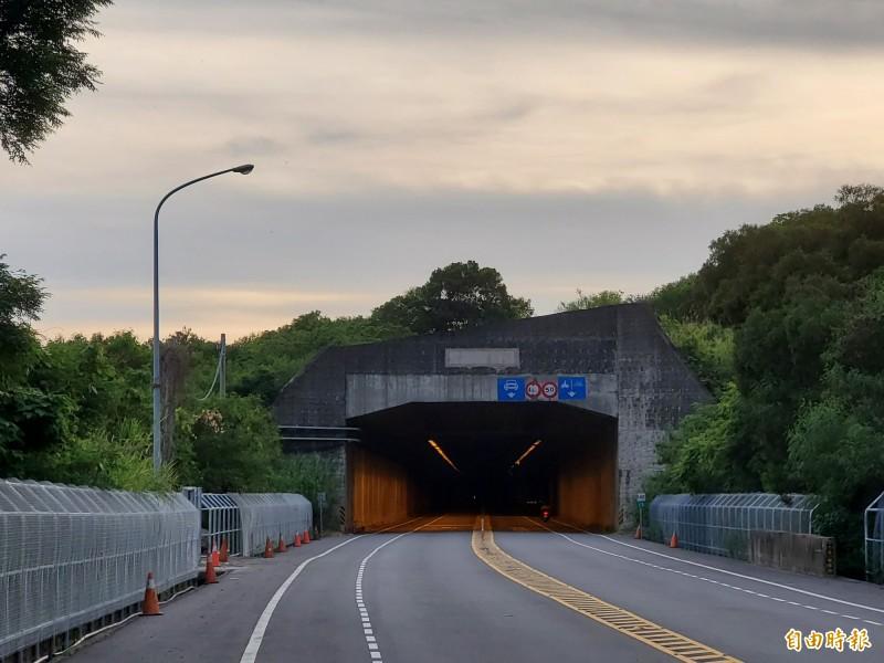 苗栗縣政府於火炎山隧道附近路段設圍網,希望盡量避免石虎路殺。(記者蔡政珉攝)