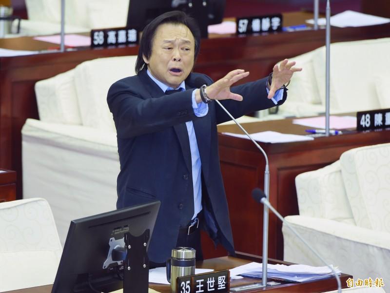 王世堅(見圖)認為,國民黨高雄市長補選註定失敗。(資料照)