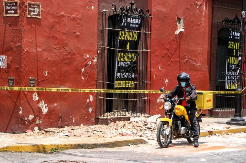 墨西哥新增6288例確診,為三月下旬疫情爆發以來該國單日最高紀錄。(法新社)