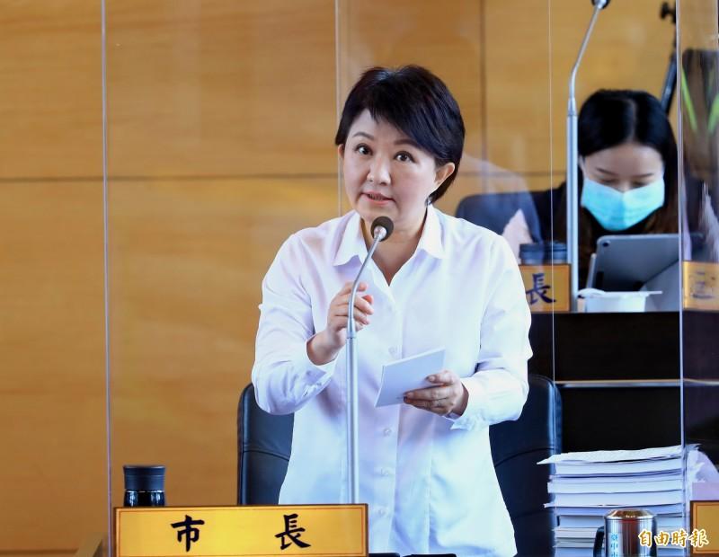 台中市長盧秀燕。(記者張菁雅攝)