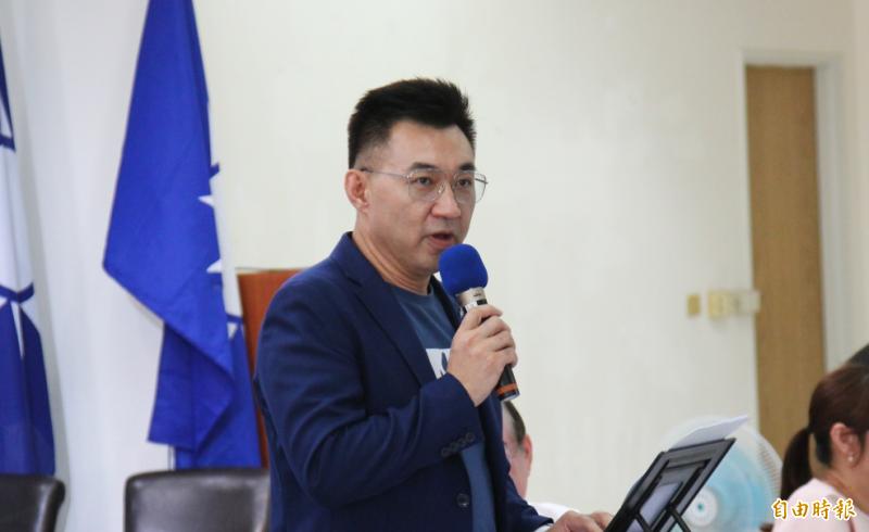 中國國民黨黨主席江啟臣。(記者李惠洲攝)