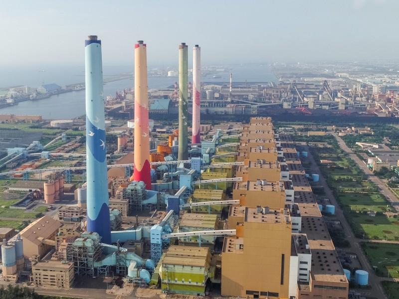 為因應夏季用電高峰,台電昨晚7時重啟中火第2號燃煤機組。(台中市提供)