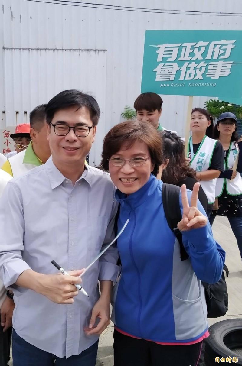 陳其邁相信市民會選擇有魄力、有執行力的市長。(記者洪定宏攝)