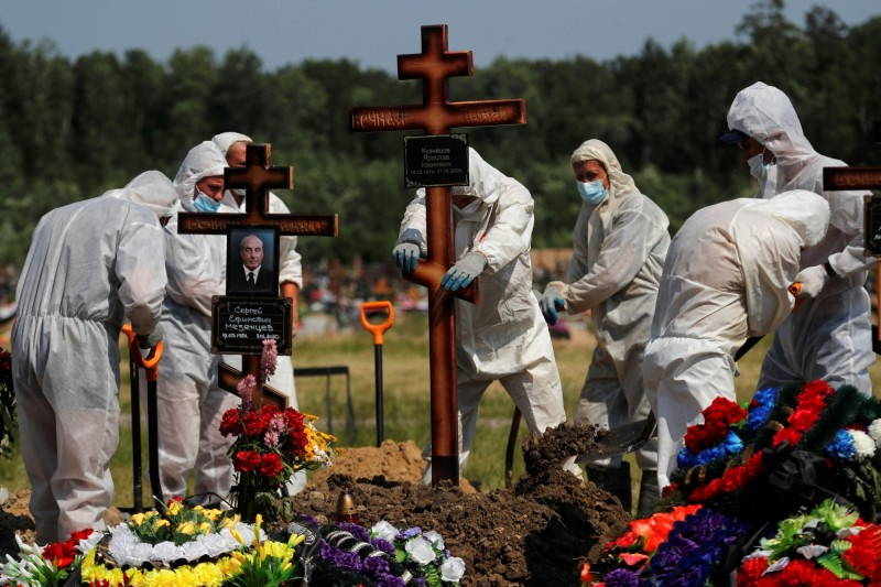 俄羅斯新增6852例武肺確診及188死。圖為聖彼得堡市郊一景。(路透)
