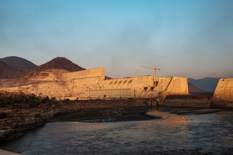 衣索比亞復興大壩興建以來爭議不斷,在完成協議前,衣索比亞、蘇丹和埃及都同意推遲注水計畫。(法新社資料照)