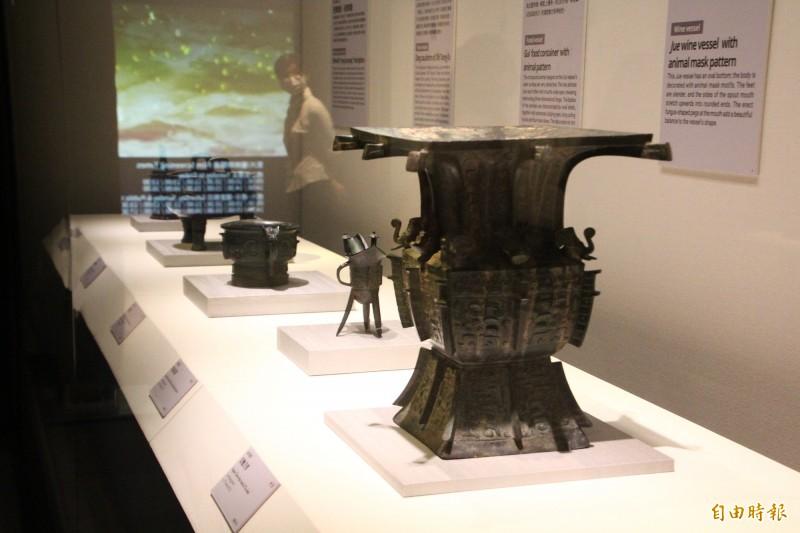 故宮南院青銅器展。(記者林宜樟攝)