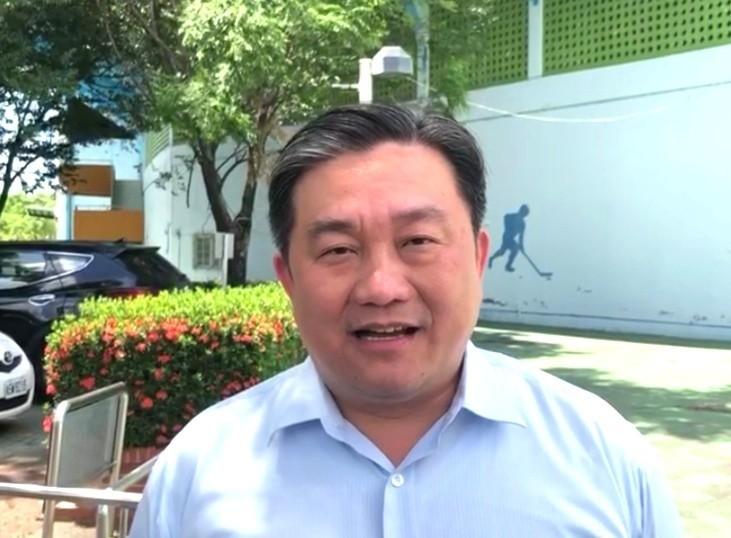 藍委佔議場,民進黨立委王定宇抨擊。(記者吳俊鋒翻攝)