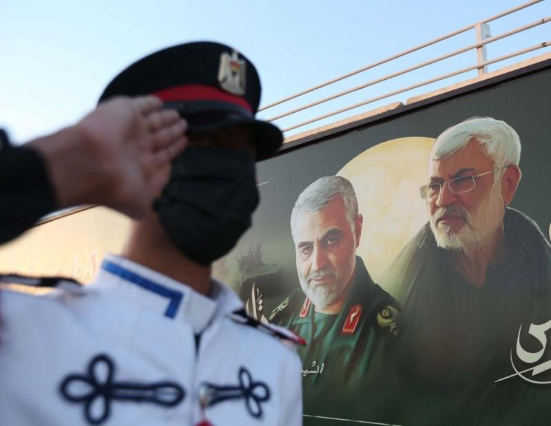 美國1月3日空襲伊拉克巴格達機場,炸死伊朗革命衛隊特種部隊聖城軍首領將軍蘇萊曼尼。(歐新社)