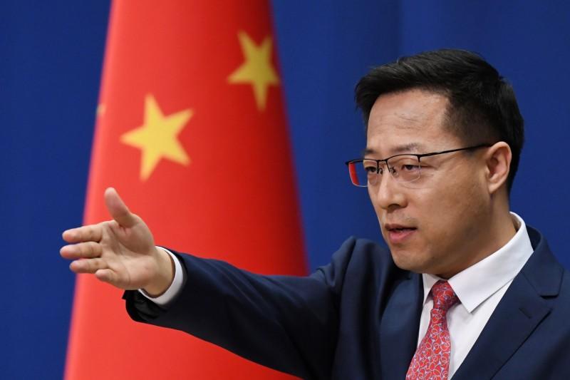 中國外交部發言人趙立堅今日表示,中方要對在香港問題上表現惡劣的美方人員,施以簽證限制。(法新社)