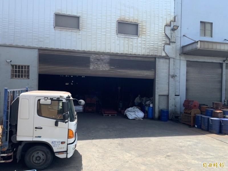 梧棲區立建鑄造公司發生工安意外,一名泰籍員工不慎身亡。(記者歐素美攝)
