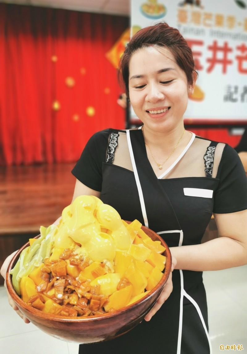 玉井芒果節7月4日登場,邀請大家來吃冰,清涼、消暑一下。(記者吳俊鋒攝)