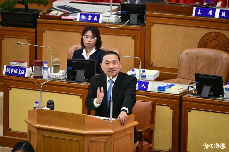 新北市長侯友宜說,他尊重立法院的運作規範。(記者何玉華攝)