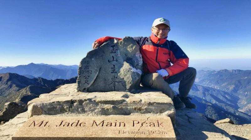 玉管處副處長林文和在玉山園區服務近30年,登上主峰至少20多回。(林文和提供)