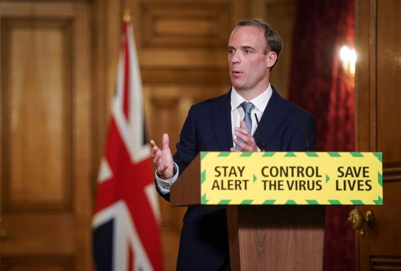 英國外交及國協事務大臣拉布(見圖)今天針對中共強行通過港版國安法,直言這是嚴重的舉措。(法新社)