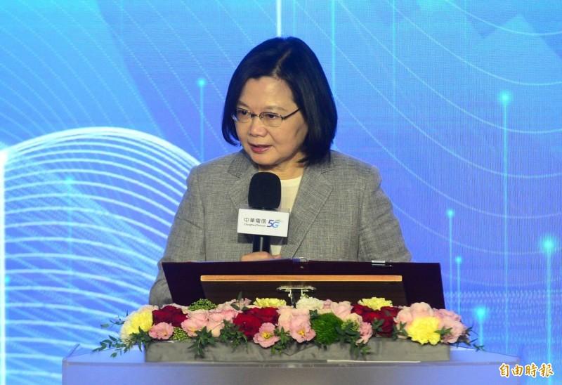 中國全國人大常委會表決通過「港版國安法」,總統蔡英文對此表達失望。(記者王藝菘攝)