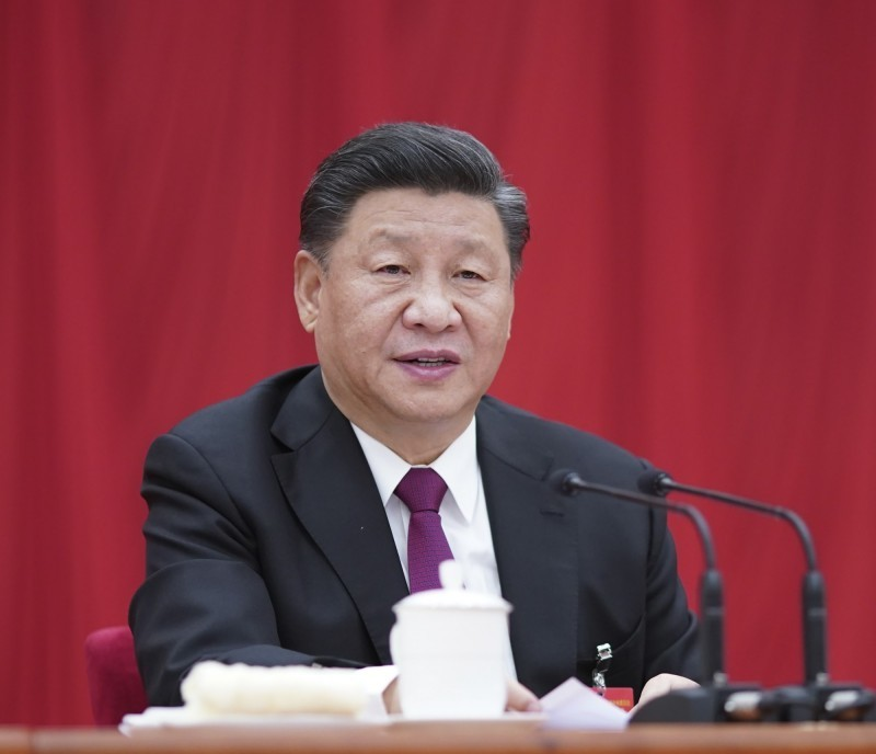 中國全國人大常委會今全票表決通過《中華人民共和國香港特別行政區維護國家安全法(草案)》(簡稱港版國安法),國家主席習近平簽署主席令予以公佈,自公布之日起開始實施。(美聯社)