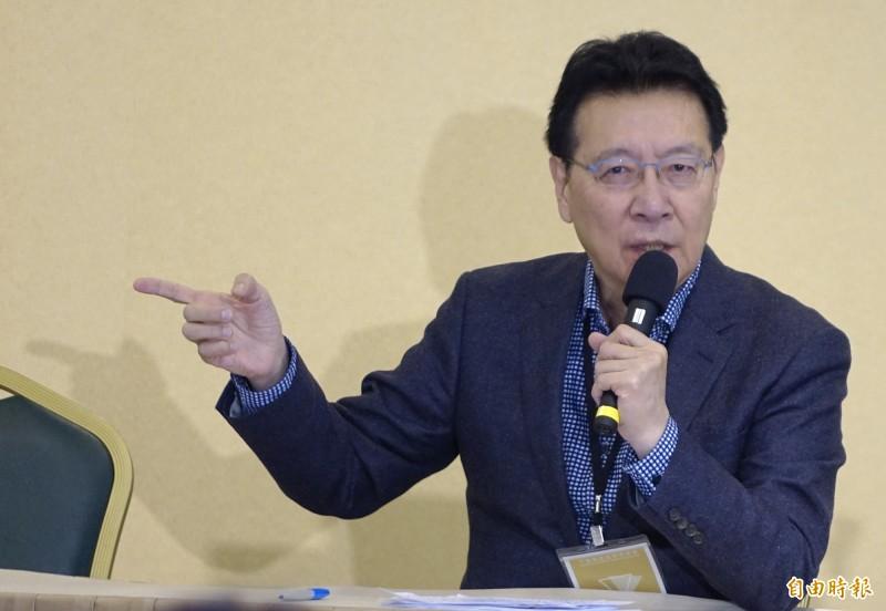 趙少康在政論節目批評國民黨「這叫什麼抗爭」。(資料照)