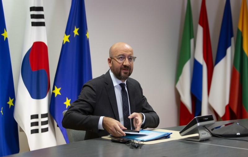 歐洲理事會主席米歇爾(見圖)表示,強烈反對(deplore)中方有關決定。(美聯社)
